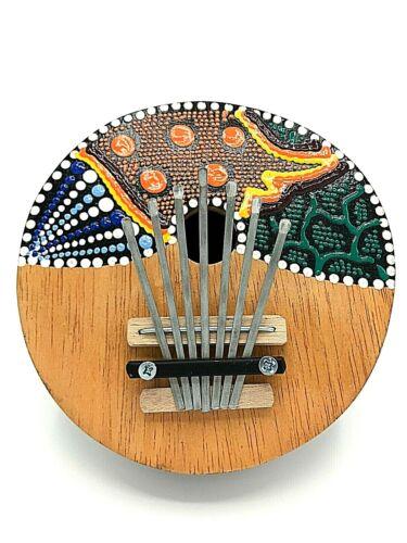 KARIMBA - ABORIGIONAL HAND PAINTED MINIATURE PIANO
