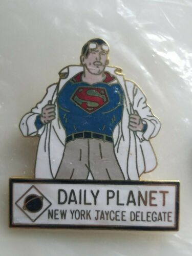 Jaycees 1982 Clark Kent Changes into Superman Pin New old Stock