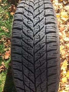 4 GOODYEAR ULTRA GRIP SNOW TIRES ON RIMS 195 65 15, 325.00