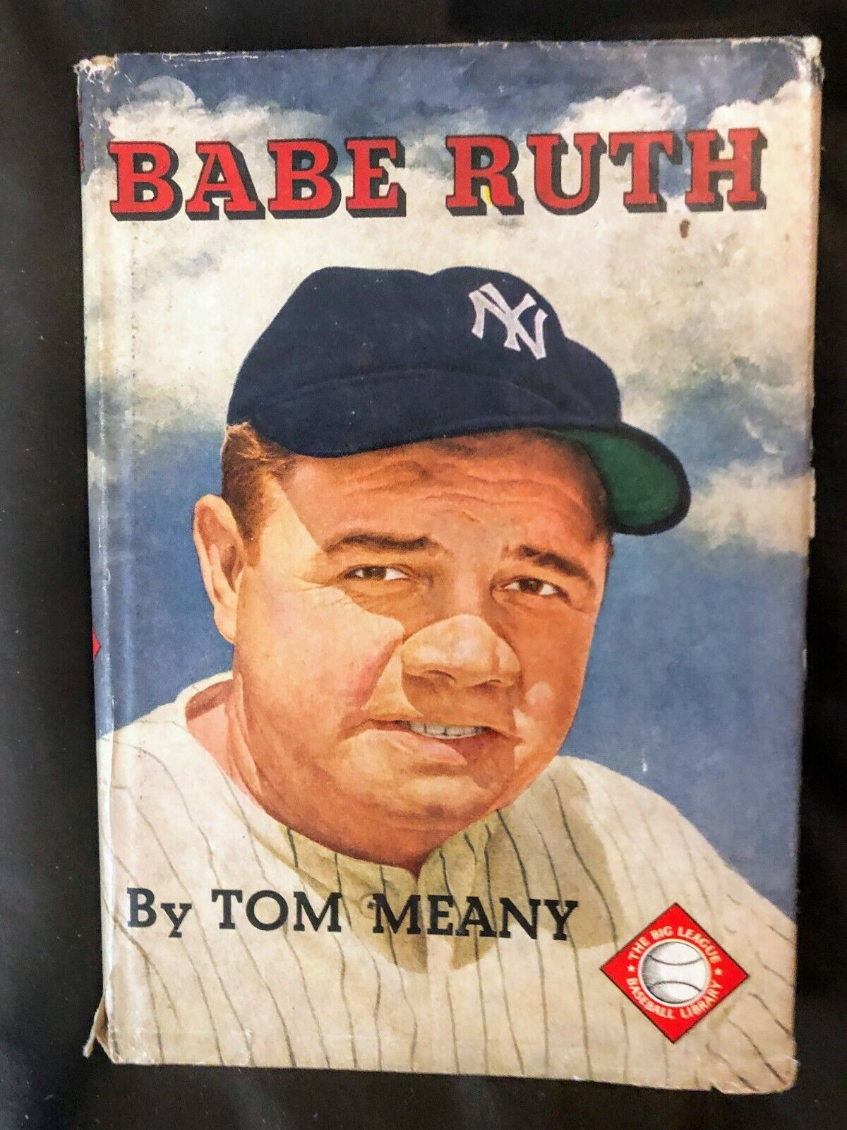 1951 Babe Ruth By Tom Meany Hardcover With Dust Jacket PLUS 3 PICTURES - $1.99