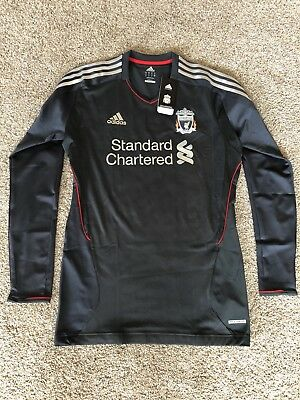 BNWT Size 10 Liverpool 2011-12 L/S Player-Issue adidas Techfit Soccer Jersey image