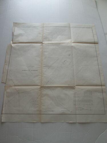 "(1) 1855 U. S. COAST SURVEY CHART: ""CHART OF PORTLAND HARBOR, MAINE"""