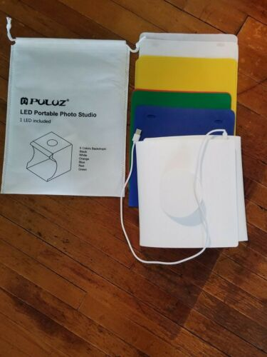 Puluz LED Portable Photo Studio With 6 colors Backdrops