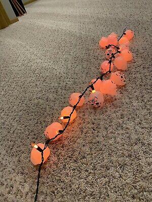 Vintage Halloween String of SKELETON Blow Mold Lights