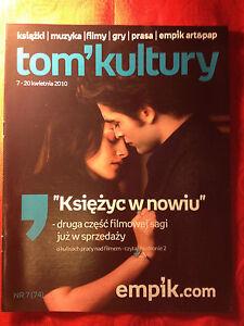 Robert Pattinson Twilight Saga: New Moon in Polish TOM KULTURY magazine magazin - <span itemprop=availableAtOrFrom>Gdynia, Polska</span> - Robert Pattinson Twilight Saga: New Moon in Polish TOM KULTURY magazine magazin - Gdynia, Polska