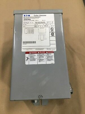 Eaton Dry Type Distribution Transformer S39d24s02 2 Kva 60 Hz 1 Ph 326dk