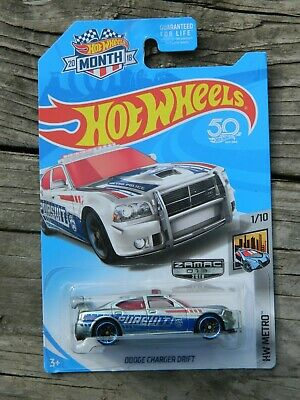 Hot Wheels Dodge Charger Drift 1 / 10 HW Metro Zamac 2018 013 police car pursuit