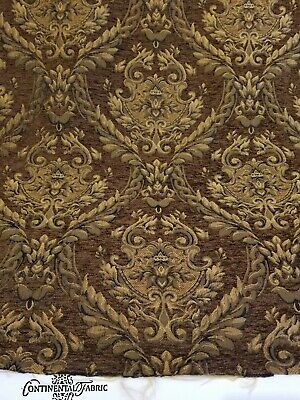Damask Decorations (Chenille Renaissance damask Home Decor Upholstery ,Brown   Sold By  Yard 58