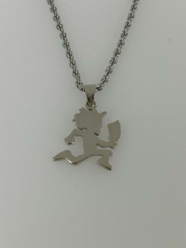 """ICP Hatchetman Plain Pendant With 21""""-24"""" Rope Chain/ Necklace Silver Color"""