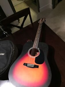 Beautiful Acoustic Guitar and Case