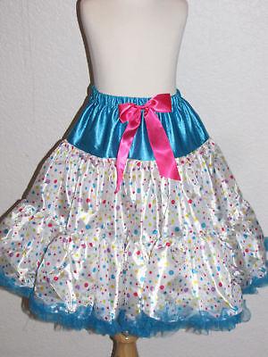 New Halloween pettiskirt Clown Doll skirt costume tutu 10 - 12 years girl tween - Tween Clown Costume