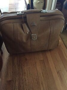 Larger leather suitcase