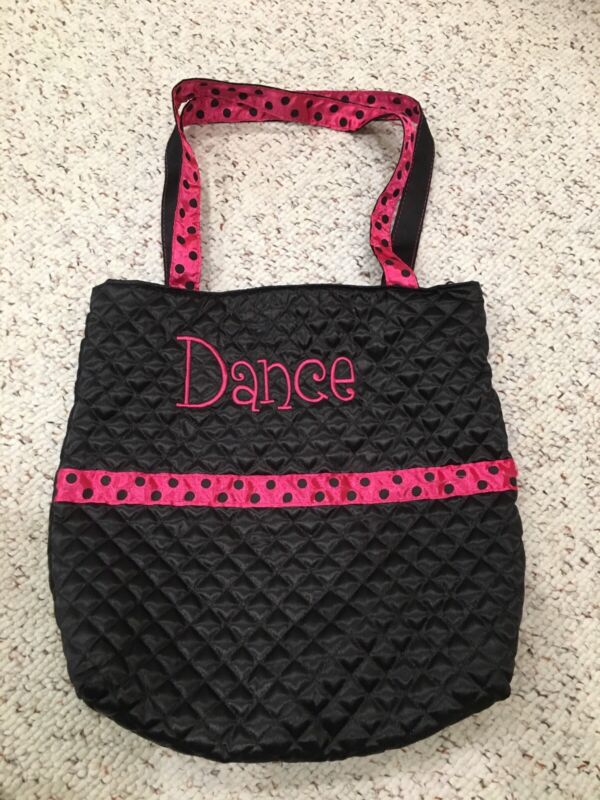 "girls dance bag size about 13"" x 13.5"""