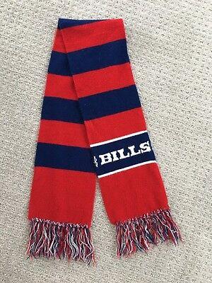 Vintage Buffalo Bills Winter Acrylic Knit Scarf Muffler Red Blue Stripe Football