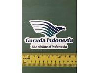 Air Garuda Indonesia Airlines Travel Flight Luggage Label Decal STICKER #2499