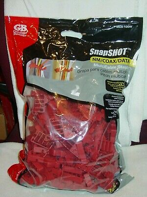 Gb Gardner Bender Mcs-100w Red Multi-cable Staple100 Count