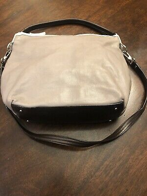 Kate Spade Purse Taupe With Cream Trim And Brown Shoulder Strap And (Taupe And Brown)