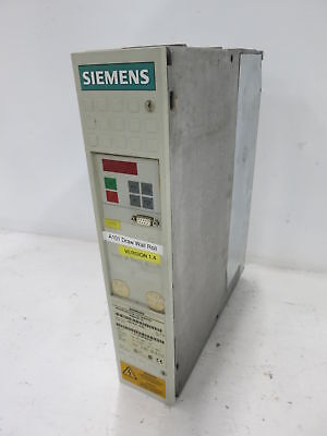 Siemens 1P 6SE7018-0TA21 DC Inverter Simovert VC 8A Drive Controller w/ Cards