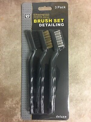 Detailing Brush Set 3 Pieces - Cleaning paint, rust, grout, detailing uses
