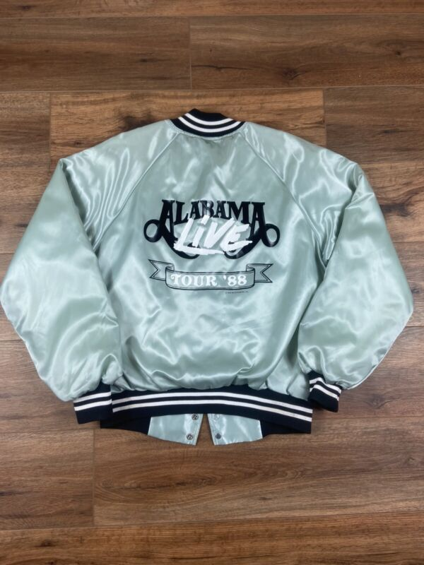 Vintage 1988 Alabama Live Tour satin Jacket Size Large