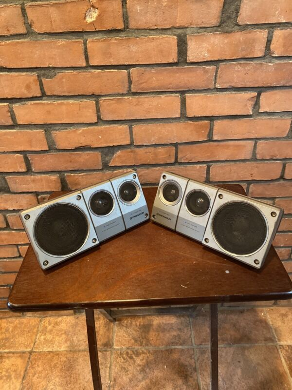 Rare Vintage Pair of Pioneer TS-X8 Enclosed Car Speakers Great Sound. Tested.