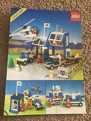LEGO Classic Town 6387 Coastal Rescue Base Instruction Manual Only VINTAGE