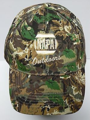 Napa Auto Parts Outdoors Fishing Hunting Advertising Camo Camouflage Hat Cap