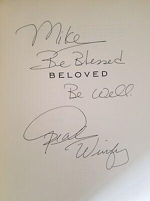Oprah Winfrey  Journey To Beloved  Signed Inscribed  1998 Hb 1St 1St Terrific