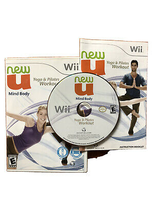 New U Mind Body, Yoga & Pilates Workout (Nintendo Wii, 2010) - Complete CIB
