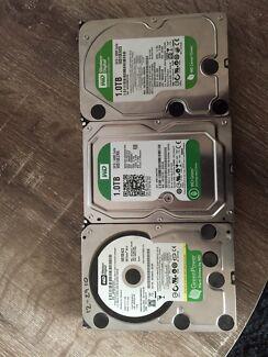 Lot of 3 Western Digital 1TB Hard Drives - Desktop Reynella Morphett Vale Area Preview