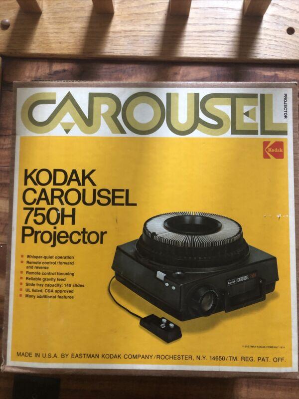 [BRAND NEW!] Kodak Carousel 750h Slide Projector IN BOX FROM 1974! IN PLASTIC