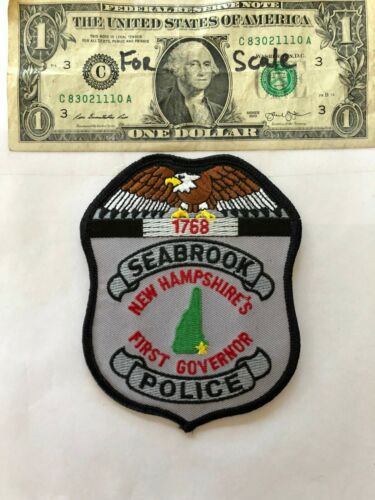 Seabrook New Hampshire Police Patch un-sewn in mint shape