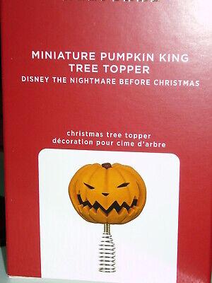 Hallmark Ornaments 2020 Minature Pumpkin King Tree Topper NIB