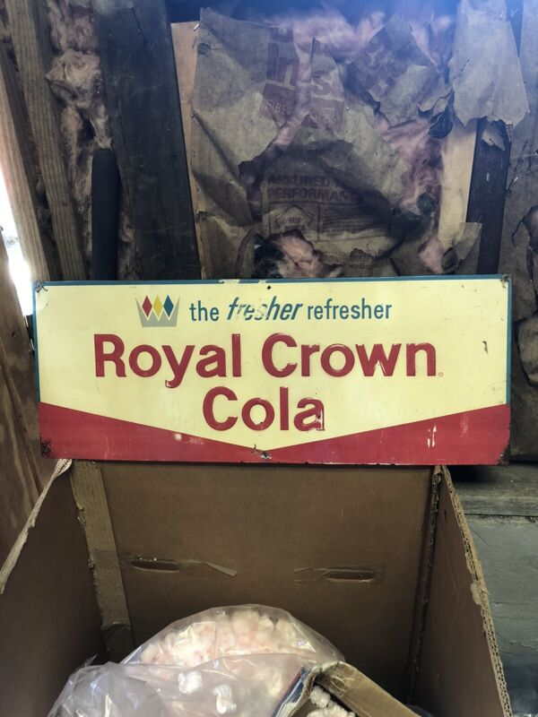 """29"""" The Fresher Refresher Royal Crown Cola Sign"""