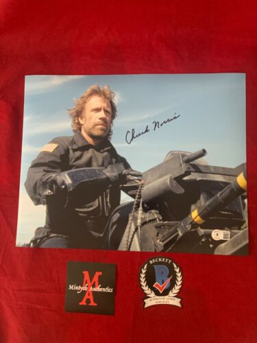 CHUCK NORRIS AUTOGRAPHED SIGNED 11x14 PHOTO! THE DELTA FORCE! BECKETT COA!