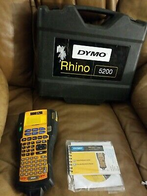 Dymo Rhino 5200 Industrial Thermal Label Maker Unit Case Instructions Disc