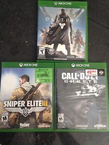 Xbox one 3 jeux