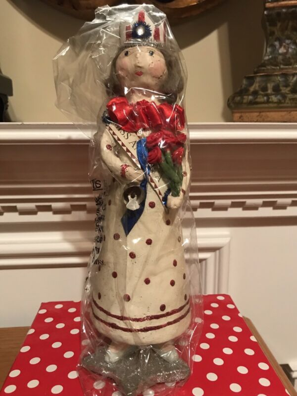 "Heather Myers by ESC Trading Co. Vintage Folk Art ""Miss America"" Retired ""NEW"""