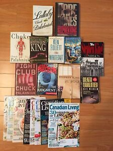 Books/magazines for sale (Stephen King, James Patterson and more