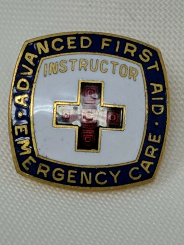 VTG American Red Cross Advanced First Aid Emergency Care INSTRUCTOR Pin  3/22