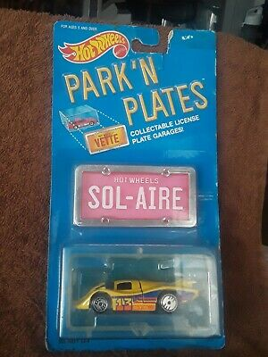 1:64 HOT WHEELS 1988 PARK 'N PLATES  YELLOW SOL-AIRE