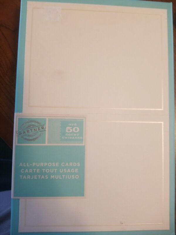 Gartner All-Purpose Cards 50 Count Of 5.5inx4.25in All Purpose Cards + Envelopes