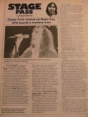 Cheap Trick, Full Page Vintage Clipping
