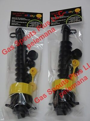 2 Gas Can Spout Kits W Screen Diesel Fuel Gsp Universal Heavy Duty 2 Collars Ea