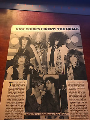 1979 VINTAGE 5 PAGE PRINT ARTICLE/PHOTO SPREAD ON NEW YORK'S FINEST: THE DOLLS