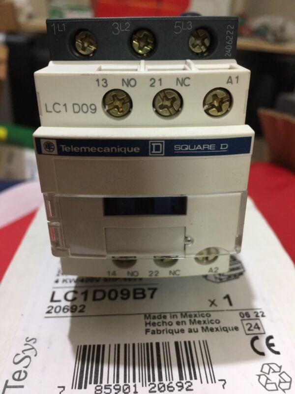 TELEMECANIQUE SQUARE D Contactor LC1D09B7 3 Pole 25 amp NEW