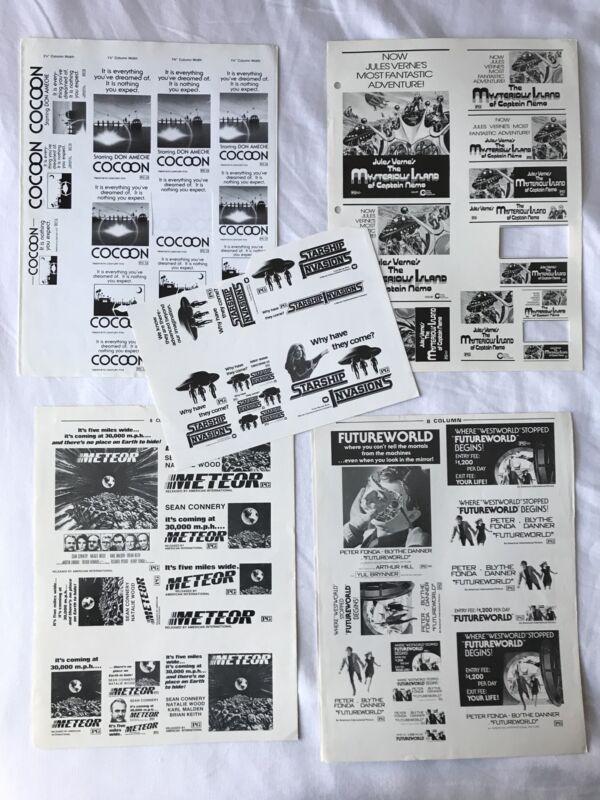 Advertising Press Sheet LOT Meteor COCCOON Futureworld STARSHIP INVASIONS