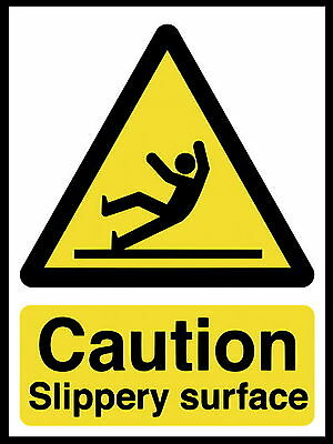 Caution Slippery Floor metal Aluminium Work / Site / Safety Sign , slippy