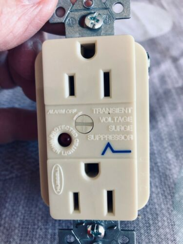 Hubbell  15 A Surge Protector Receptacle Great for Refrigerators, TV