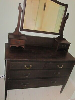 Victorian/ Edwardian Antique Wooden Dresser with Mirror for Shabby Chic Project